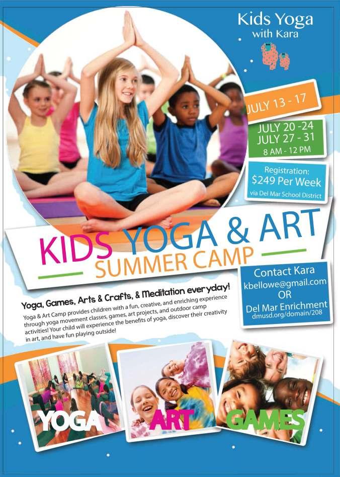 Kids Yoga & Art Flyer 2